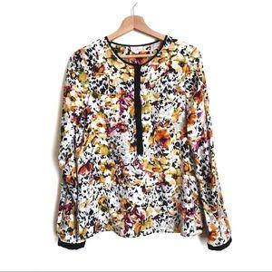 Parker Floral Silk Blouse